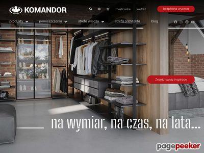 KOMANDOR - Szafy, Garderoby