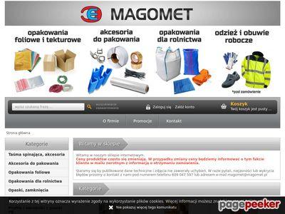 Magomet sprzedaż opakowań, rękawic i odzieży roboczej