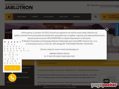 Jablotron - przewodowe i bezprzewodowe systemy alarmowe