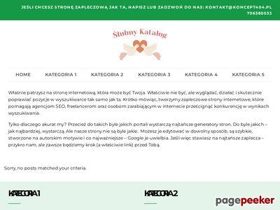 Bezpłatny Ślubny Katalog Stron
