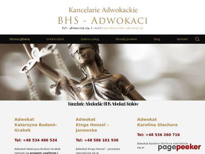 Adwokat i porady prawne w Krakowie - BHS Adwokaci