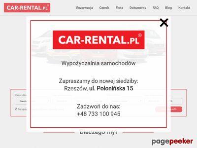 Wynajem nowych aut - Car-Rental.PL