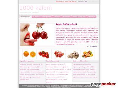 1000 kalorii - dieta