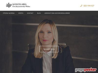 Adwokat Ewa Kaczorowska-Weber