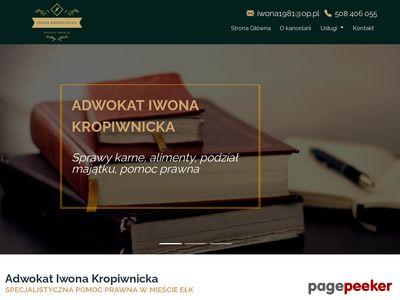 Prawnik Ełk - Adwokat Iwona Kropiwnicka
