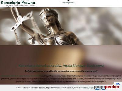 AGATA BIEŁAWA-KOSTRZEWA adwokat Zielona Góra