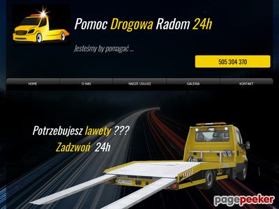 KOS-TRANS Pomoc Drogowa Radom 24h tel: 505-304-370