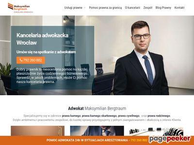 Kancelaria Adwokacka Wrocław - Adwokat Maksymilian Bergtraum