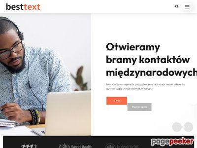 Biuro tłumaczy specjalistycznych - besttext.pl