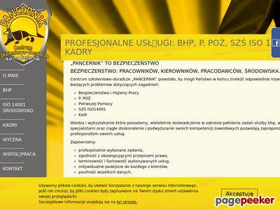 Pancernik - BHP Poznań - szkolenia i doradztwo BHP, P. POŻ