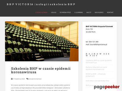 BHP VICTORIA - usługi i szkolenia BHP i ppoż.