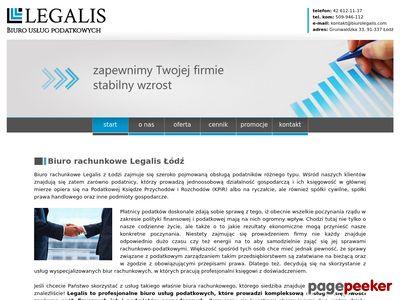 Usługi księgowe - biuro Legalis Łódź