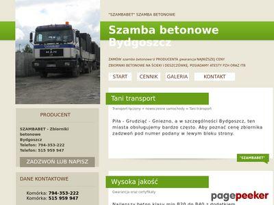 Szamba betonowe Bydgoszcz