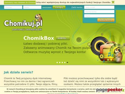Przyjazny dysk internetowy - Chomikuj.pl