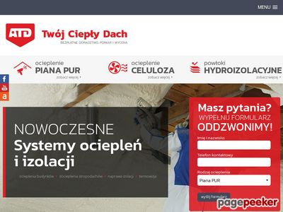 www.cieplydach.pl - Ocieplenie pianką PUR