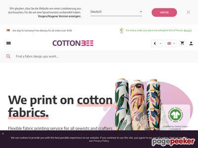 CottonBee - bawełna do szycia ubrań
