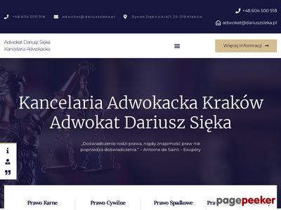 Kancelaria adwokacka Kraków - Adwokat Dariusz Sięka