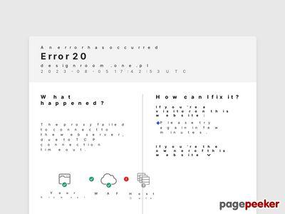 Strona projektów wnętrz firmy DesignRoom