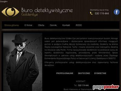 Biuro detektywistyczne Golden Eye | Detektyw Katowice, Tychy i okolica