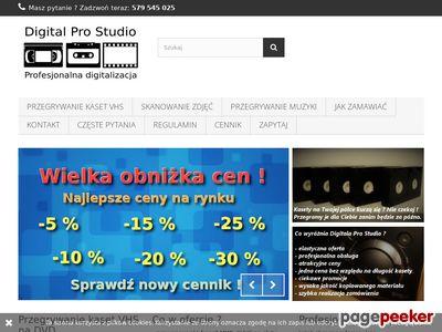 Przegrywanie kaset VHS na DVD - Digital Pro Studio