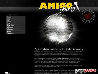 DJ wodzirej na wesele poprawiny AMIGO PARTY