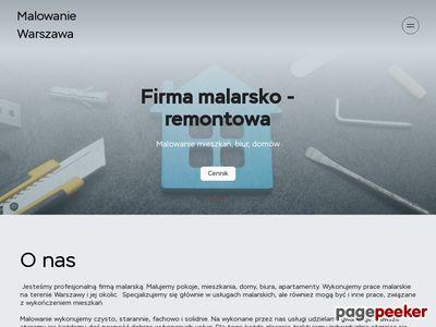 Usługi malarskie w Warszawie, malowanie ścian i sufitów