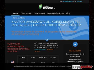 Skup złota Warszawa : dukatkantor.pl