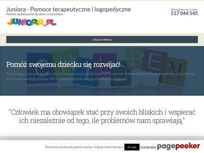 Juniora.pl - Pomoce terapeutyczne i logopedyczne | Pomoce dydaktyczne dla dzieci z autyzmem