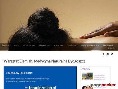 Warsztat Elemiah hirudoterapia masaż medycyna naturalna