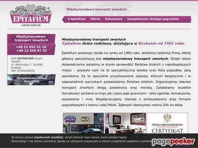 Epitafium-przewozy.pl - Międzynarodowy transport zmarłych