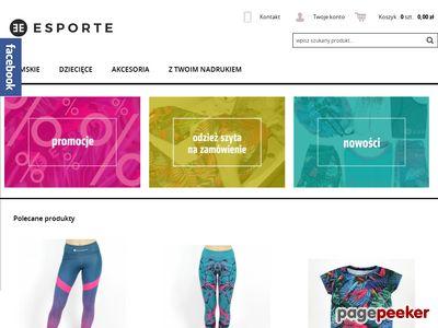 ESPORTE - oryginalna odzież sportowa
