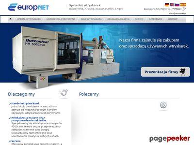 Europnet - wtryskarki używane Battenfeld, Arburg, Krauss Maffei, Engel