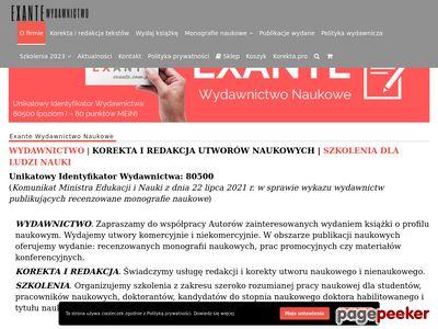 SzSzkolenia zamknięte – Exante.com.pl