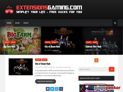 Extensions Gaming - Cheats,