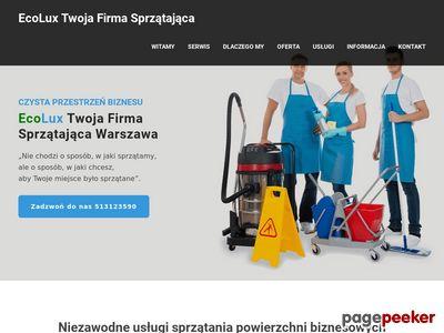 ECOLUX pranie dywanów i tapicerki meblowej Warszawa