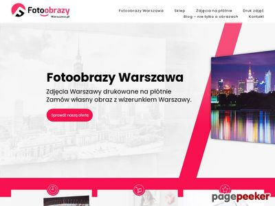 Fotoobrazy na płótnie Warszawa