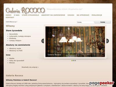 Stare żyrandole, lampy, kinkiety - Galeria Rococo Warszawa