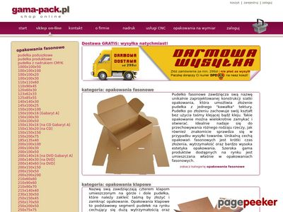 Gama-Pack, pudełka – koperty - opakowania z tektury.