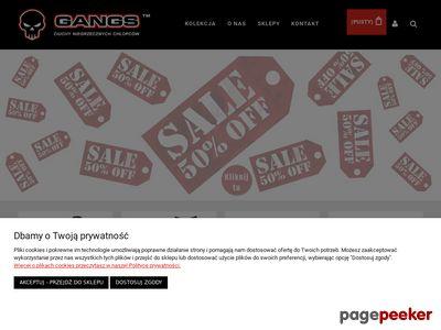 Polski producent ubrań - gangs.pl