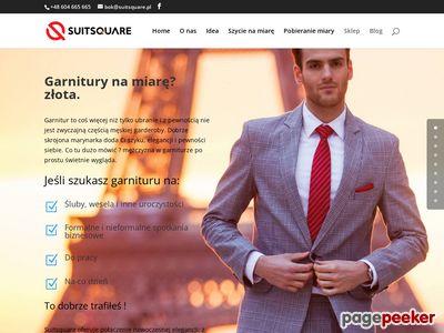 Modne garnitury męskie - szycie na miarę ONLINE !