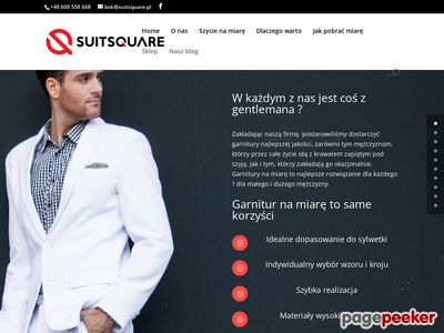 Garnitury na miarę - Szycie na miarę Online