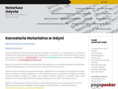 Kancelaria Notarialna Paulina Kierus-Tunowska, Notariusz Gdynia