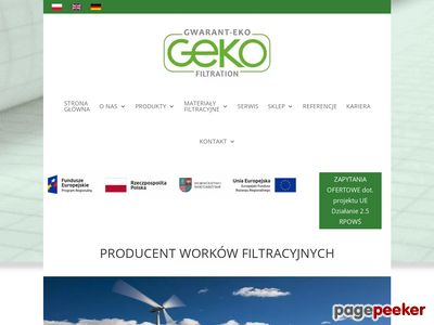 Worki filtracyjne - gekofiltration.pl