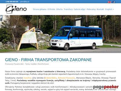 Gieno Bus Zakopane- przewóz osób zakopane
