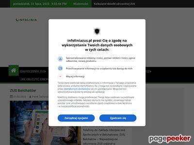 Twój ZUS na infoliniazus.pl