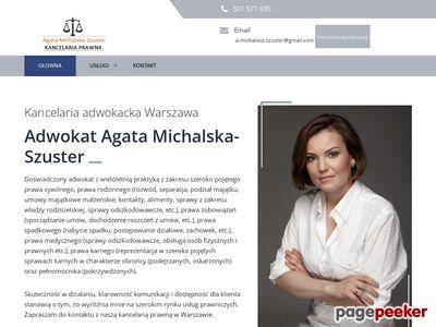 Kancelaria Adwokacka Warszawa | Agata Michalska-Szuster