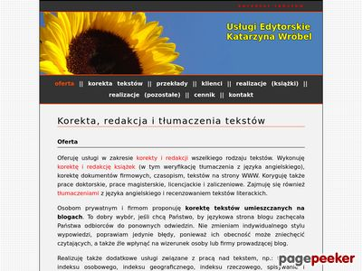 Korekta, redakcja i tłumaczenia tekstów - dr Katarzyna Wróbel