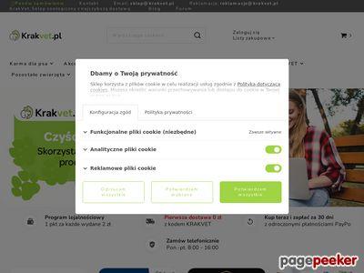 Internetowy sklep zoologiczny Krakvet