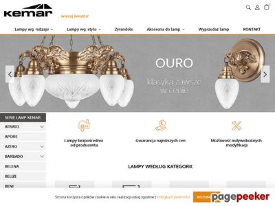 Kemar - lampy i żyrandole klasyczne