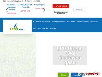 dystrybucja gazu grzewczego - LPG DIRECT